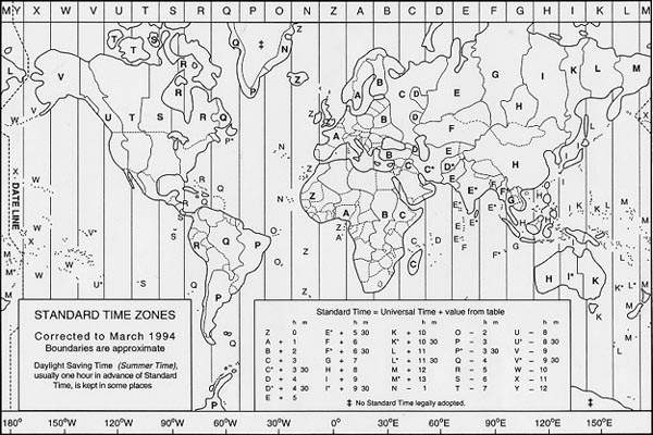 Travel guide date time zone world map of time zones gumiabroncs Gallery